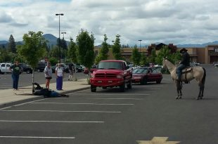 Bike Thief Lassoed by Man on Horseback in Eagle Point, Oregon