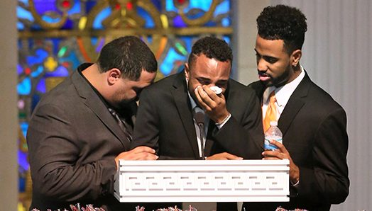 VIDEO Son Collapses in Tears at Funeral of Mother Who Gave Her Life in Orlando Shooting