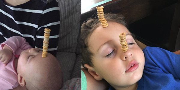 Dads Are Stacking Cereal on Their Babies in Epic Father's Day #CheerioChallenge