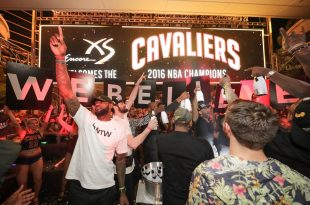 VIDEO Cleveland Cavaliers Make Stop in Las Vegas to Celebrate NBA Finals Win