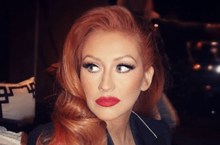 Christina Aguilera Reveals New Red Hair at Hillary Clinton Fundraiser