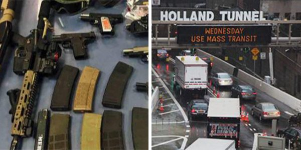 3 Arrested At Holland Tunnel With Loaded Guns, Knives, Body Armor