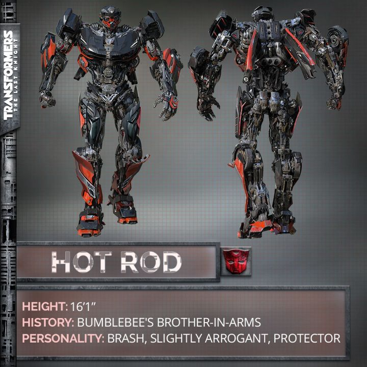 Hot Rod in Transformers: The Last Knight, via Michael Bay's Twitter