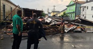 Storm Causes Houses to Collapse in New Orleans, Thousands Without Power