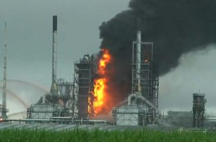 Explosion, Large Fire at Motive Oil Refinery in Convent