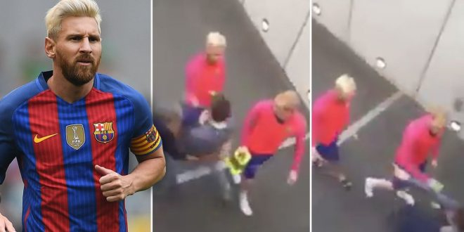 VIDEO: Fan Who Tries to Hug Lionel Messi Gets Tackled by Security Guard