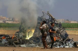 Russian Helicopter Shot Down in Syria, All 5 Onboard Killed