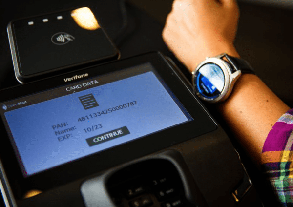 Samsung Pay: should work at nearly any credit card terminal.