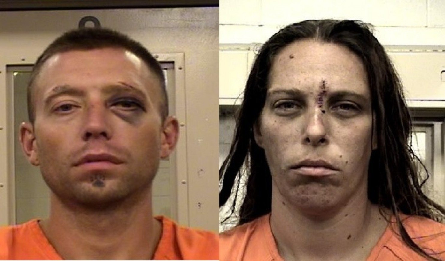 Fabian Gonzales and Michelle Martens were arrested Wednesday in Albuquerque. (Bernalillo County Metropolitan Detention Center)
