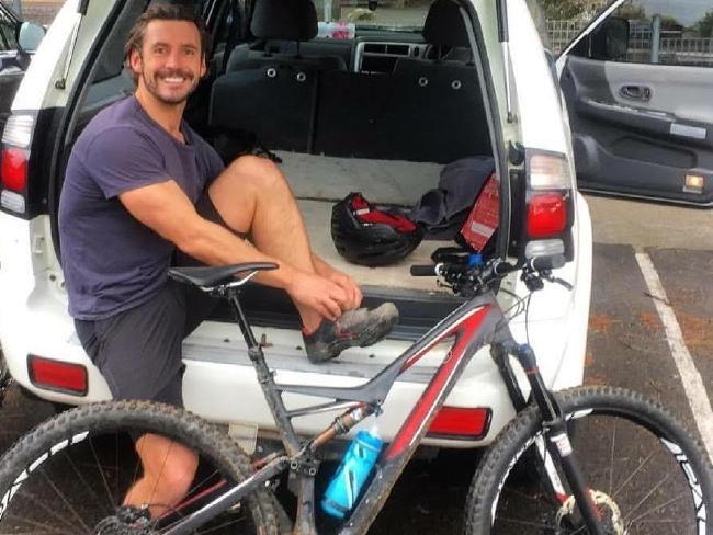 Gareth Clear, from Bondi, was cycling around Manly Dam when the accident occurred.