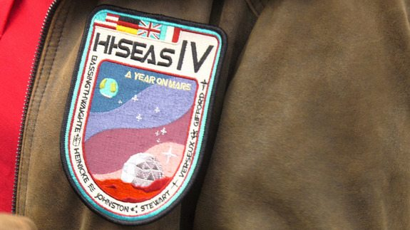 A look at the mission patch for the one-year mock Mars mission in Hawaii by the Hawaii Space Exploration Analog and Simulation program.