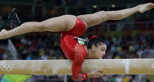 Laurie Hernandez Takes Silver in Balance Beam as Simone Biles Takes Bronze After Fall