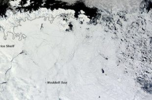 Antarctic Peninsula: Researchers Study Widening Crack on Larsen C Ice Shelf