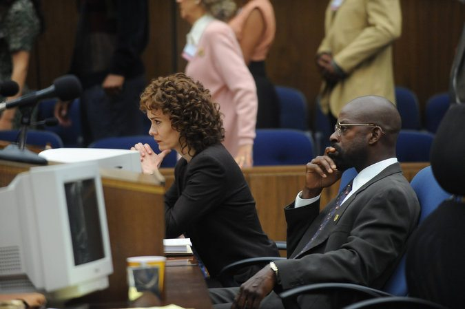 "Sarah Paulson as Marcia Clark and Sterling K. Brown as Christopher Darden in ""The People v. O.J. Simpson: American Crime Story,"" on FX."