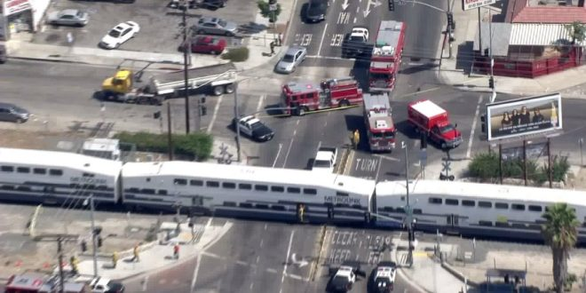 At Least 10 Injured After Metrolink Train and Box Truck Collide in Sun Valley, CA
