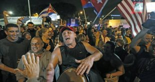 Local Cubans Celebrate Fidel Castro's Death