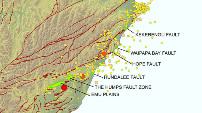Most earthquakes are the result of rupture on a single fault plane. But the twin quakes led to the rupture of at least six faults, including a newly identified one at Waipapa Bay.