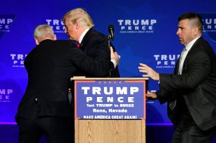 Donald Trump is Rushed Off Stage by Secret Service Agents at Nevada Rally