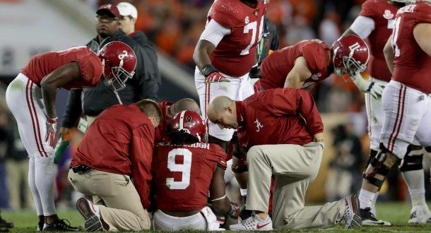 Bo Scarbrough Suffered Broken Leg Bone in National Championship Game