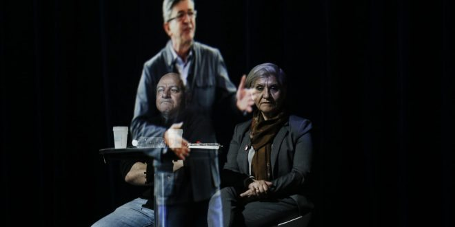 French Candidate Jean-Luc Melenchon Uses Hologram to Promote Campaign