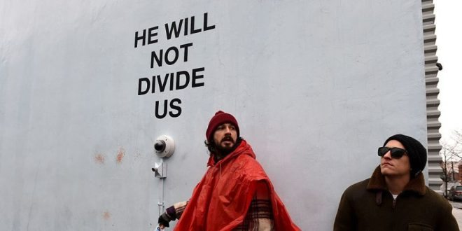 Violence Erupts, Shia LaBeouf's Anti-Trump Exhibit Shut Down