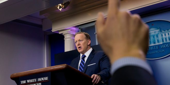 Sean Spicer Repeats Trump's Unproven Wiretapping Allegation
