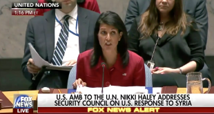 United States 'Prepared to Do More' in Syria, U.S. Ambassador Nikki Haley to UN Says After Military Strikes