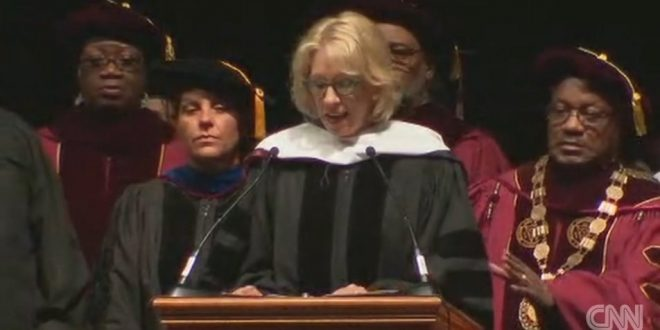 Students Boo Betsy DeVos as Commencement speaker at Bethune-Cookman Graduation