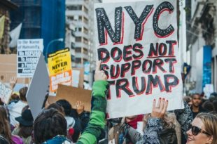Protesters Welcome Donald Trump on First New York City Visit