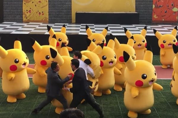 Pikachu deflated during dance parade