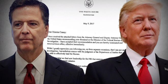 White House: Removing James Comey will Help Bring Russia Investigation to End