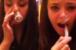 Moronic Condom-Snorting Challenge takes over Social Media