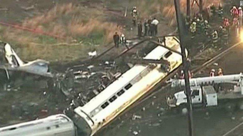 Horrifying Amtrak Crash On Train From D.C. To NYC.