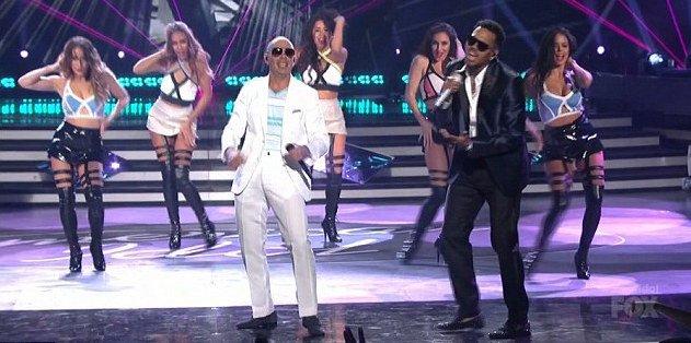 Chris Brown And Pitbull Perform ''Fun'' On 'American Idol'
