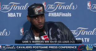 VIDEO LeBron After Game 5: I Feel Confident Because I'm the Best Player in the World