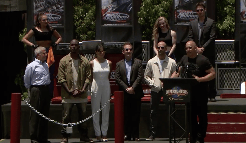 VIDEO Fast and Furious Stars Unveil 'Supercharged' Ride at Universal Studios Hollywood