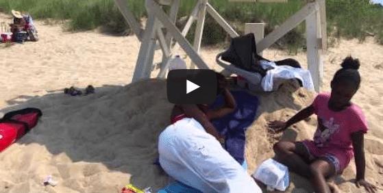 VIDEO: Marquette Park (Chicago) Beach Lifeguard Sleeping on the Job
