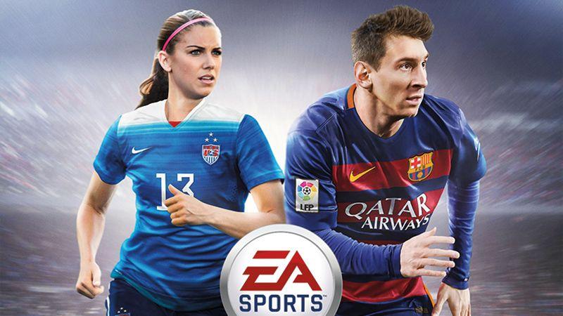 ALEX MORGAN REPRESENTS U.S. WOMEN ON HISTORIC #FIFA16 COVER