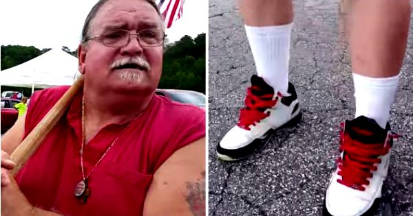 VIDEO Pro-Confederate Man With KKK Tattoo Get Called Out for Wearing FUBU Sneakers