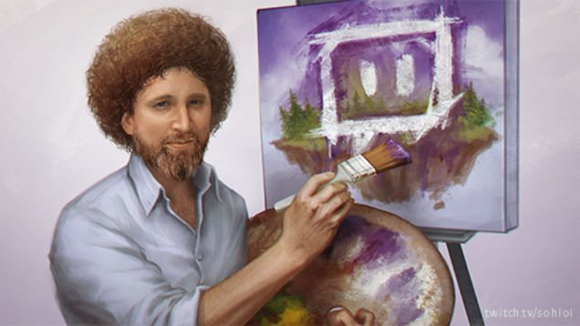 Every Single Episode of Bob Ross 'The Joy of Painting' Streamed by Twitch