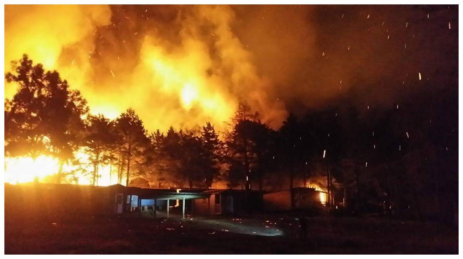 Van Zandt County, Texas: Multiple Agencies Contain Fire at 'The Mountain' Flea Market
