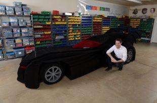 Nathan Sawaya Unveils World's Largest LEGO Brick Batmobile