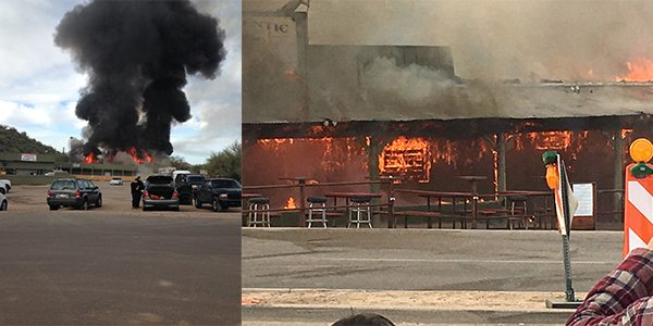 Buffalo Chip Saloon in Cave Creek, Arizona a 'Total Loss' After Fire