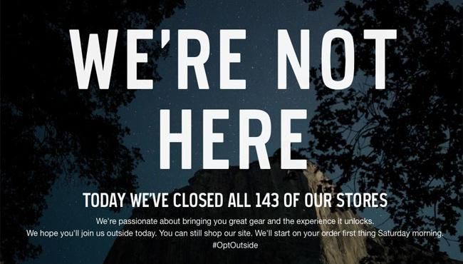 REI Closed On Black Friday For 1st Time In Push To #OptOutside