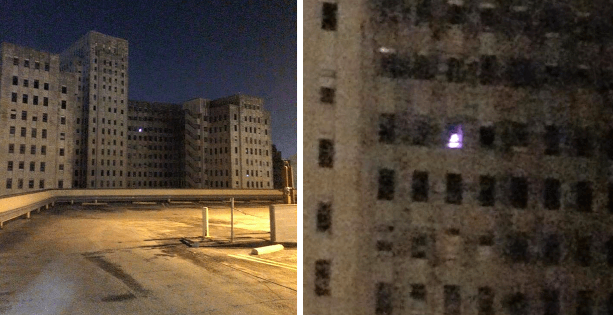Mysterious Christmas Tree Lights Up a Window from Abandoned Charity Hospital