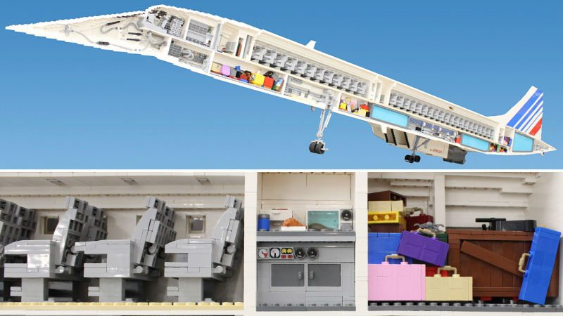 Fan Builds 13-Foot-Long Concorde Model Out Of Lego Bricks