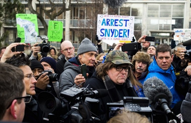 Michael Moore Pens Letter Urging Americans to Stop Sending Water to Michigan