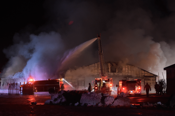 Barn Fire Kills More than 40 Racehorses in Puslinch, Ontario