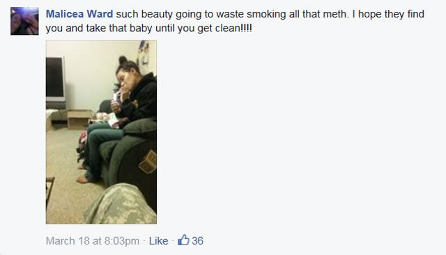 Ray County, Missouri: Woman Arrested After Photos Surface of Her Smoking Meth Near Baby