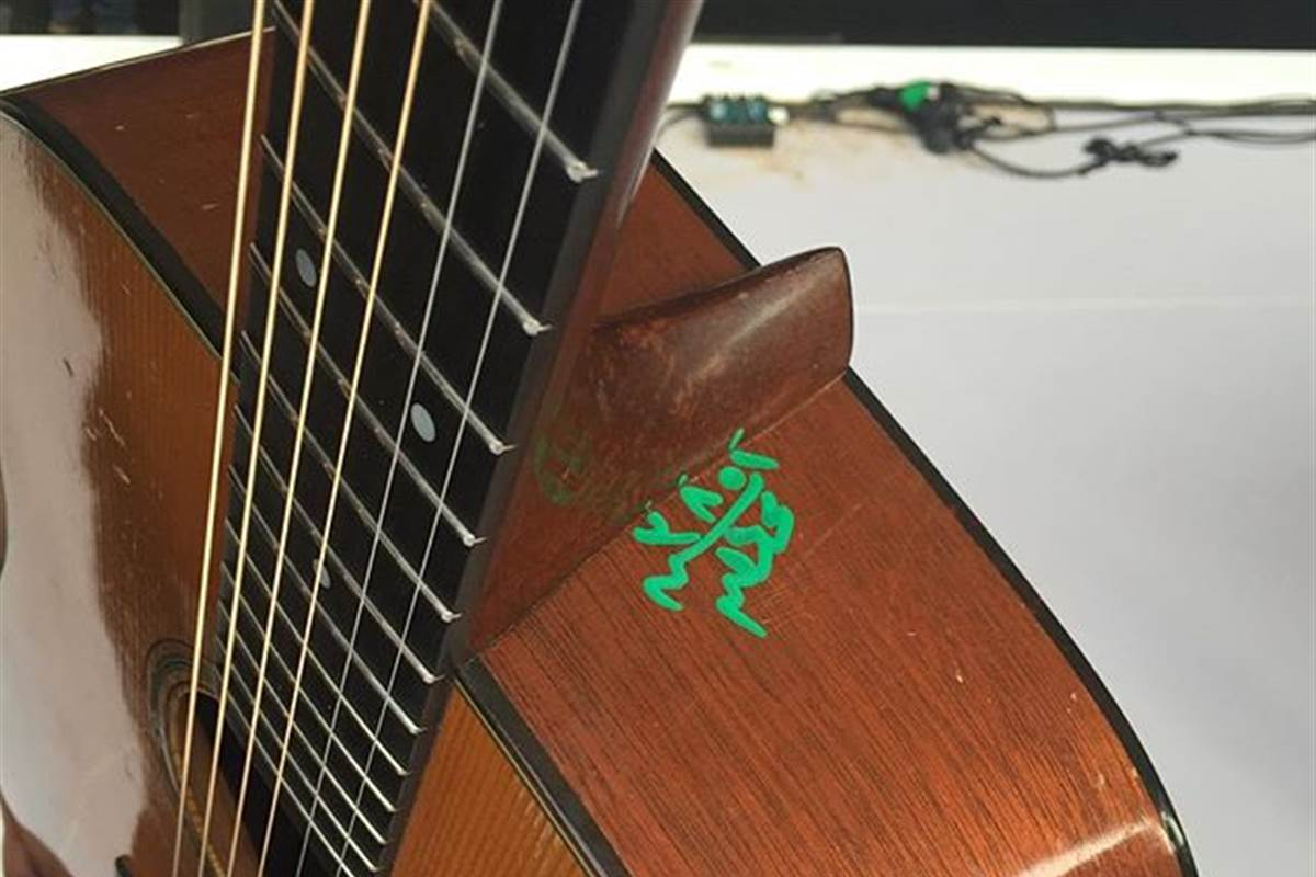 Bryan Adams Vintage Guitar Defaced by Egyptian Customs Officials